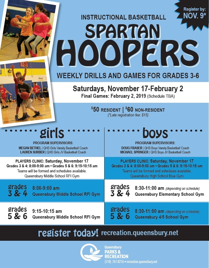 Boys & Girls Spartan Hoopers Gr. 3-6