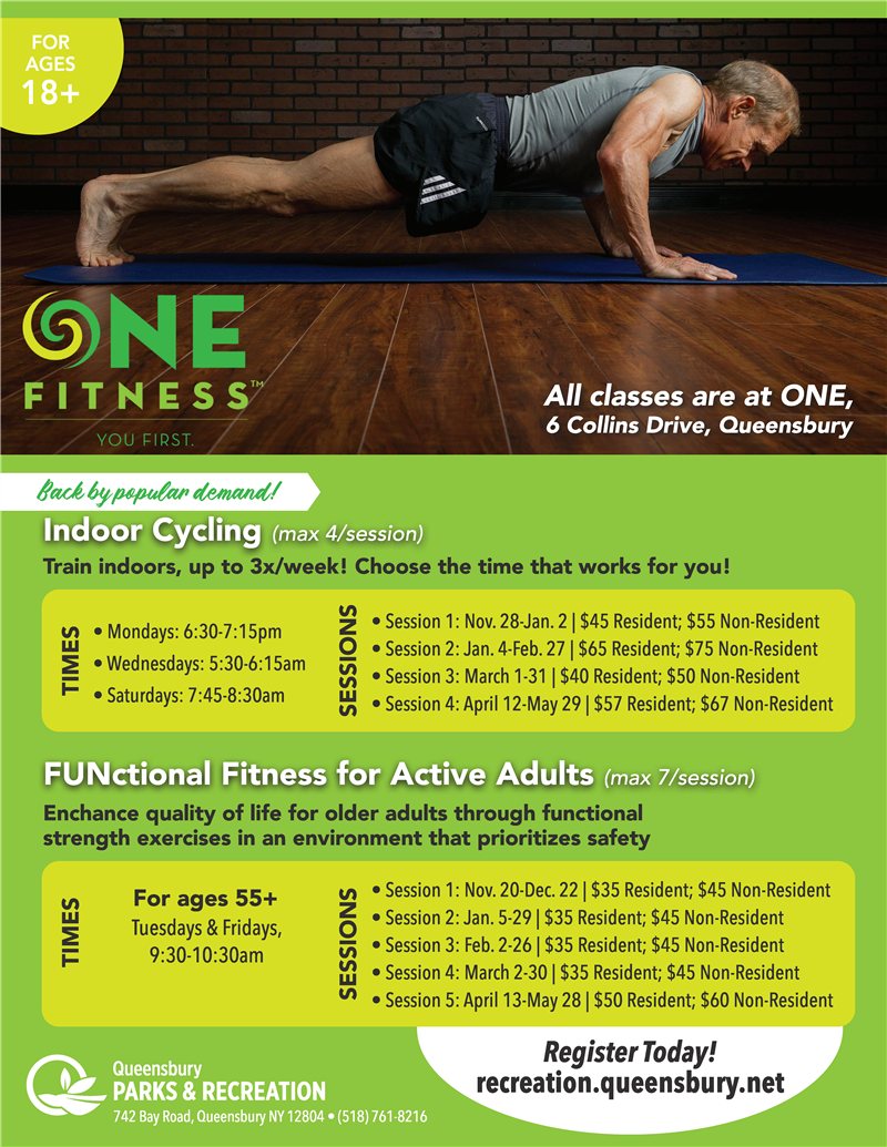 ONE Fitness-Indoor Cycling/FUNctional Fitness 55+
